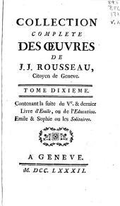 Collection complete des oeuvres de J. J. Rousseau ...