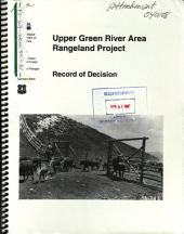 Bridger-Teton National Forest (N.F.), Upper Green River Area Rangeland Project: Environmental Impact Statement