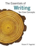 The Essentials of Writing  Ten Core Concepts PDF