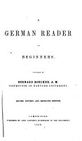 A German reader for beginners PDF