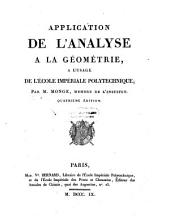 Application de l'analyse a la geometrie (etc.) 4. ed