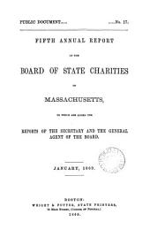 fifth annual report of the board of state charities of massachusetts
