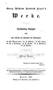 Georg Wilhelm Friedrich Hegel's Werke: Band 11
