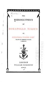 The Hieroglyphics of Horapollo Nilous