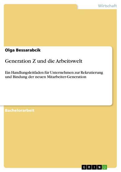 Generation Z und die Arbeitswelt PDF