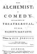 The alchemist. London 1612