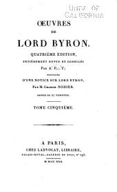 Oeuvres de Lord Byron: Volume5