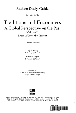 Student Study Guide and Map Exercise Workbook to accompany Traditions and Encounters  Volume 2 PDF