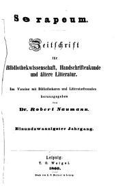 Serapeum: Bände 21-22