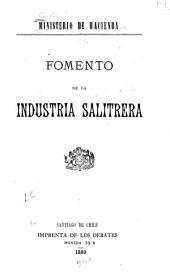 Fomento de la industria salitrera