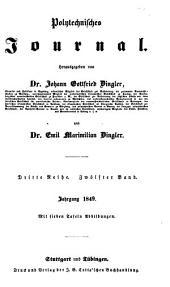 Dinglers polytechnisches journal: Band 112