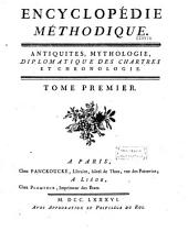 Encyclopédie méthodique, ou par ordre de matières, par une société de gens de lettres,etc...