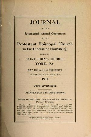 Journal of the     Annual Convention  Diocese of Harrisburg PDF