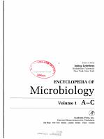 Encyclopedia of Microbiology PDF