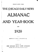 The Chicago Daily News Almanac and Yearbook      PDF