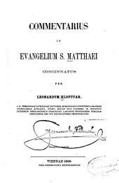 Commentarius in Evangelium S. Matthaei