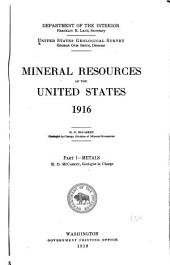Mineral Resources of the United States: Part 1