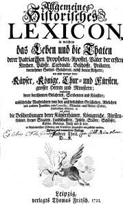 Allgemeines historisches Lexicon PDF