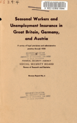 Seasonal Workers and Unemployment Insurance in Great Britain  Germany  and Austria PDF