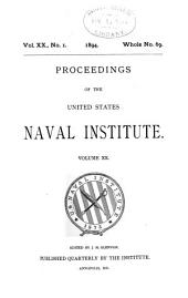 Proceedings of the United States Naval Institute: Volume 20