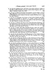 A Collection of the Public General Statutes: 1852