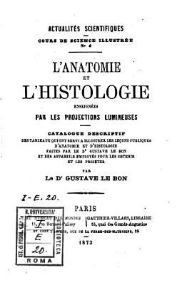 L anatomie et l histologie enseign  es par les projections lumineuses PDF