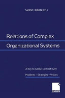 Relations of Complex Organizational Systems PDF