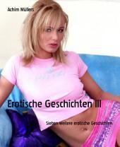 Erotische Geschichten III: Sieben weitere erotische Geschichten