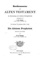 Handkommentar zum Alten Testament. In Verbindung mit anderen Fachgelehrten: Teil 3,Band 4