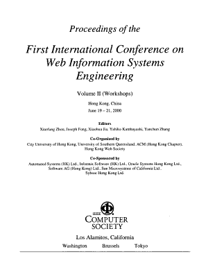 Proceedings of the First International Conference on Web Information Systems Engineering PDF