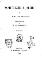Scritti editi e inediti di Vincenzio Antinori