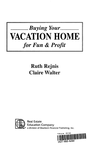 Buying Your Vacation Home