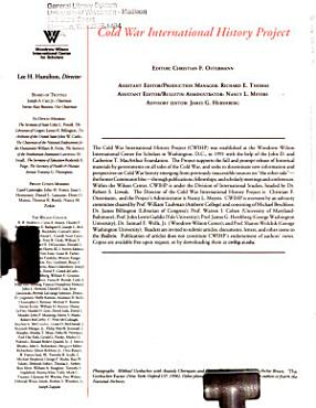 The End of the Cold War PDF