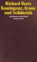 Kontingenz  Ironie und Solidarit  t PDF