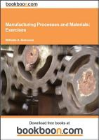 Manufacturing Processes and Materials  Exercises PDF