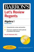 Let s Review Regents  Algebra I Revised Edition PDF