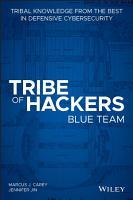 Tribe of Hackers Blue Team PDF