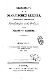 Geschichte des osmanischen Reiches: Grossentheils aus bisher unbenützten Handschriften und Archiven, Band 8