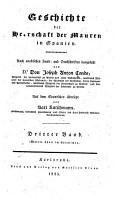 Geschichte der Herrschaft der Mauren in Spanien PDF