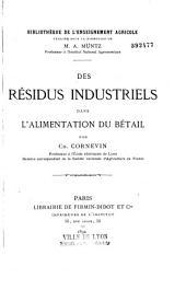 Des résidus industriels dans l'alimentation du bétail 1892