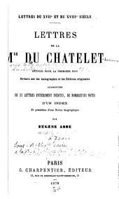 Lettres de la mse du Châtelet