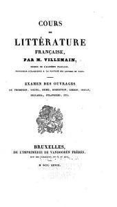 Cours de littérature française: examen des ouvrages de Thompson, Young, Hume, Robertson, Gibbon, Ossian, Beccaria, Filangieri, etc