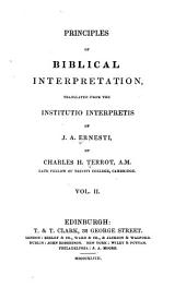 Principles of Biblical interpretation: Volume 2