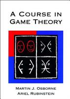 A Course in Game Theory PDF