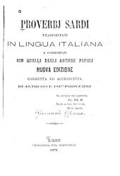 Proverbj sardi trasportati in lingua italiana e confrontati con quelli degli antichi popoli nuova ed.corretta ed accresciuta di altri 500 e più proverbj