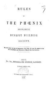 Rules of the Phoenix Permanent Building Society  etc PDF