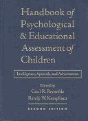 Handbook of Psychological and Educational Assessment of Children  2 e PDF