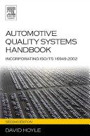 Automotive Quality Systems Handbook