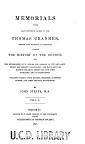 Memorials of Archbishop Cranmer: Volume 1
