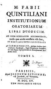 Institutiones Oratoriae: Volume 1
